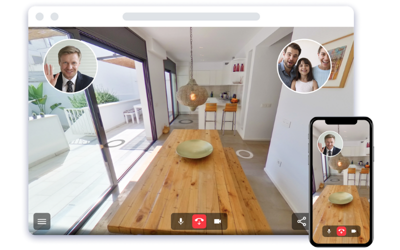 How do you automatically create virtual house visits?