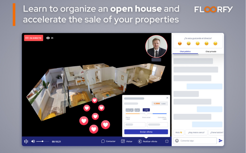 Learn how to organise an open house and speed up the sale of your properties